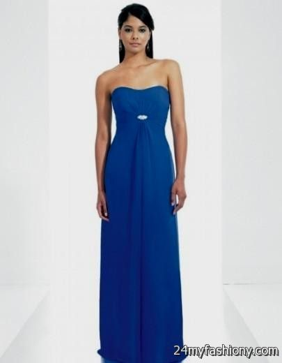 cobalt blue chiffon bridesmaid dresses 2016-2017 | B2B Fashion