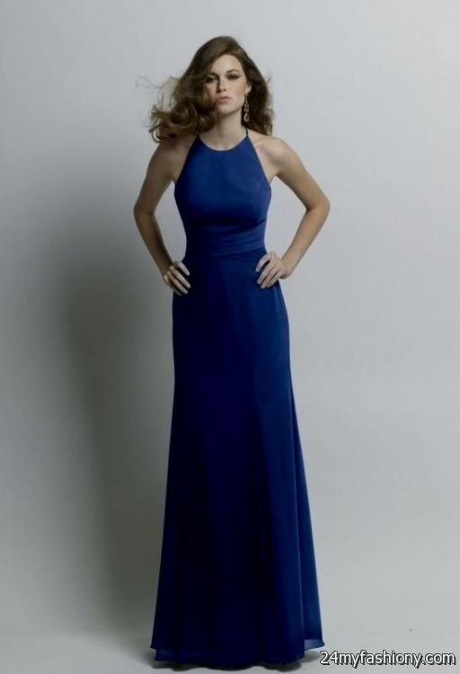 Cobalt Blue Chiffon Bridesmaid Dresses Looks B2b Fashion