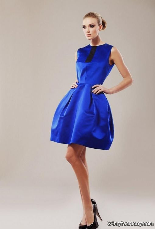 cobalt blue cocktail dress 2016-2017 » B2B Fashion