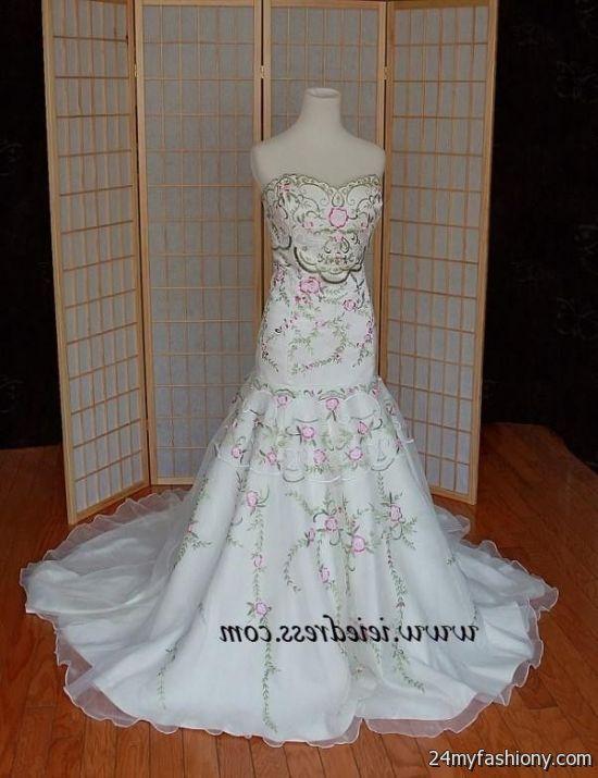 color embroidered wedding dress 2016-2017 » B2B Fashion