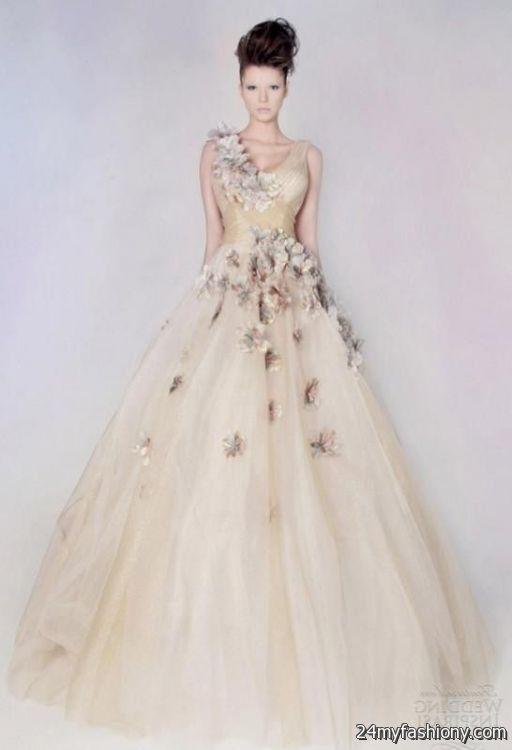 Color Embroidered Wedding Dress Looks B2b Fashion