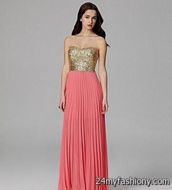 coral and gold dresses 2016-2017 | B2B Fashion