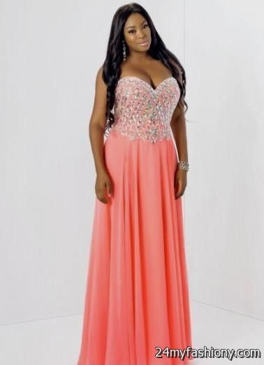 coral and gold prom dress 2016-2017 » B2B Fashion