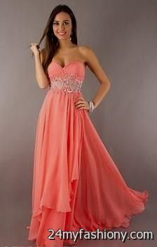 80fe669e4c3 You can share these coral and gold prom dress macys on Facebook
