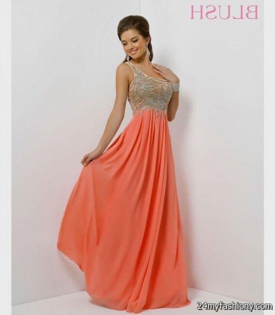 Coral And Gold Prom Dress Macys Looks B2b Fashion