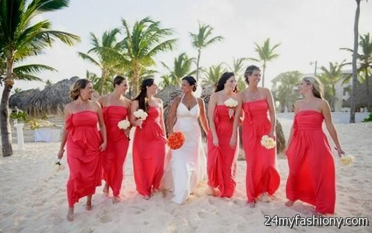 coral beach bridesmaid dresses 2016-2017 » B2B Fashion