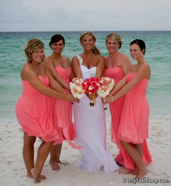 Coral bridesmaid dresses beach 2016-2017 » B2B Fashion