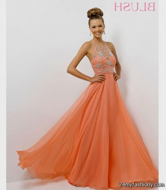 coral colored prom dress 2016-2017 | B2B Fashion