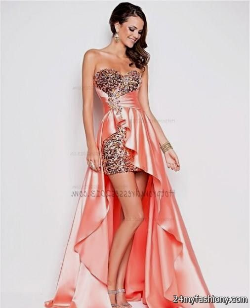 coral high low prom dresses 2016-2017 » B2B Fashion