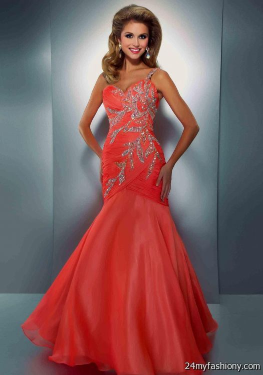 coral mermaid prom dresses 2016-2017 | B2B Fashion