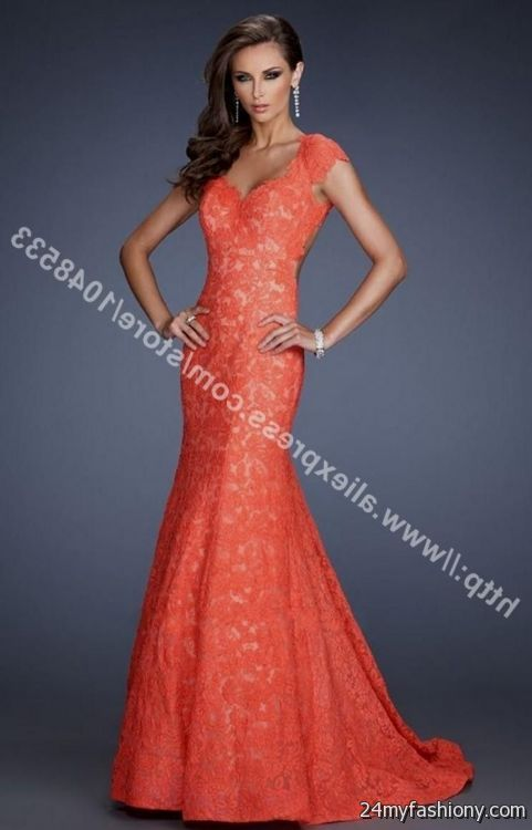 Coral Mermaid Prom Dresses_Prom Dresses_dressesss