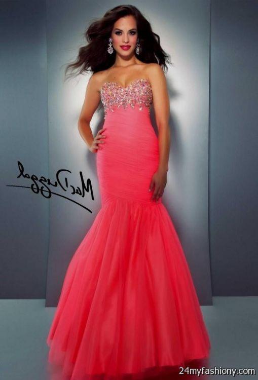 Similiar Coral Prom Dresses 2016 Keywords