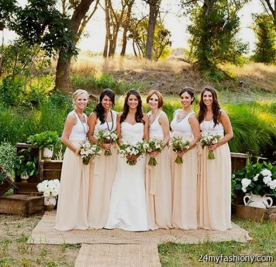 Country Chic Wedding Bridesmaid Dresses 2016 2017
