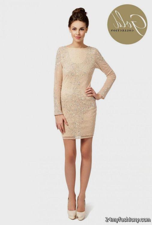 cream dresses with sleeves 2016-2017 » B2B Fashion