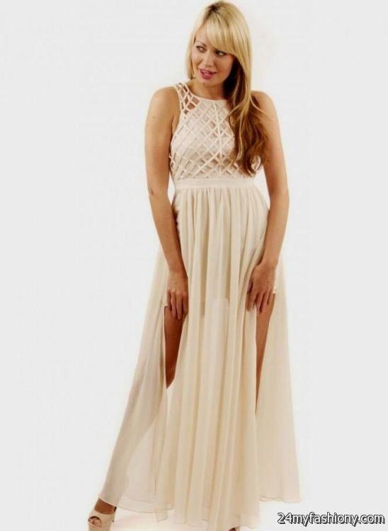 cream maxi dress 2016-2017 » B2B Fashion