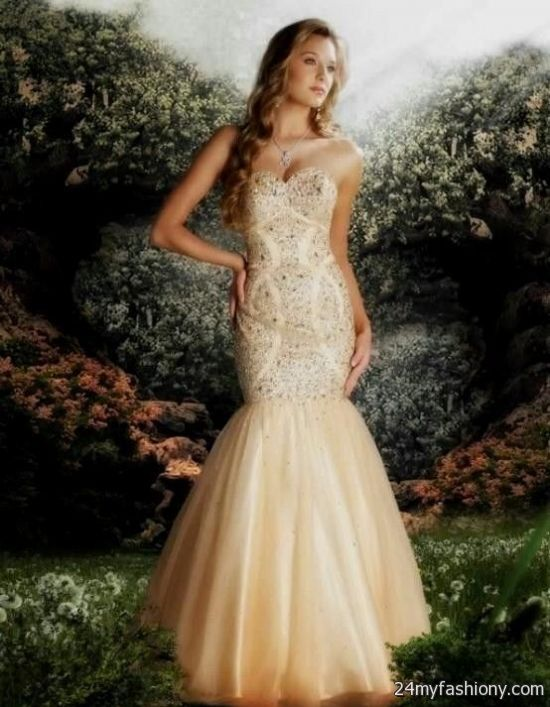 cream mermaid prom dress 2016-2017 | B2B Fashion