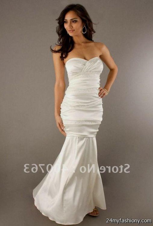 Cream colored formal dresses