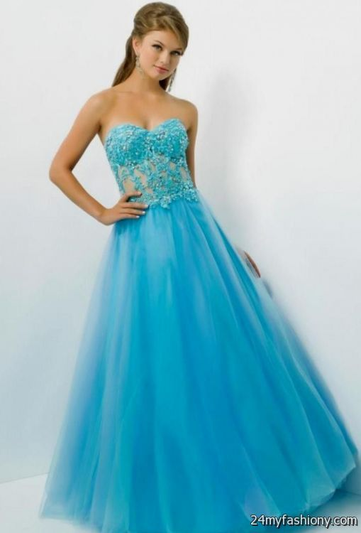 cute blue and pink prom dresses 2016-2017 » B2B Fashion