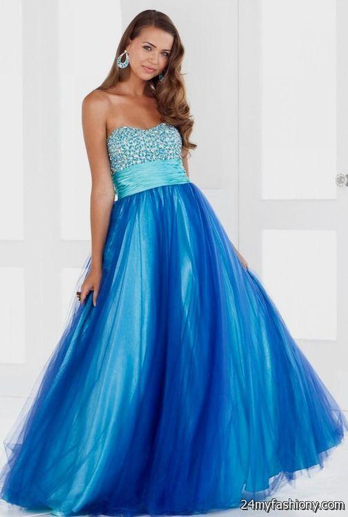 cute blue and pink prom dresses 2016-2017 » B2B Fashion