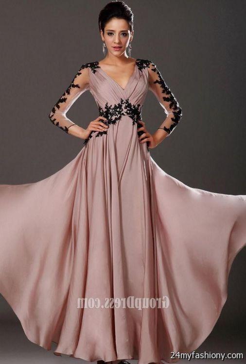 cute long prom dresses with sleeves 2016-2017 | B2B Fashion
