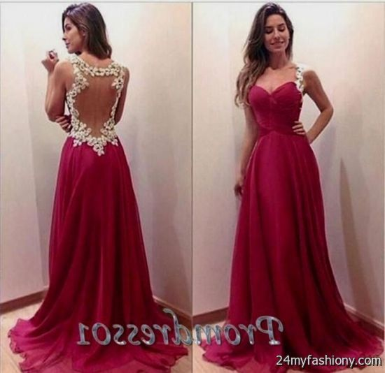 cute long prom dresses with straps 2016-2017