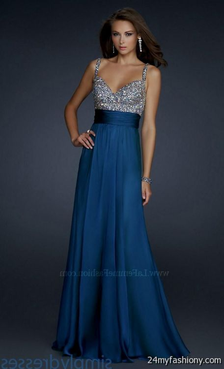 Midnight Blue Prom Dress - Ocodea.com