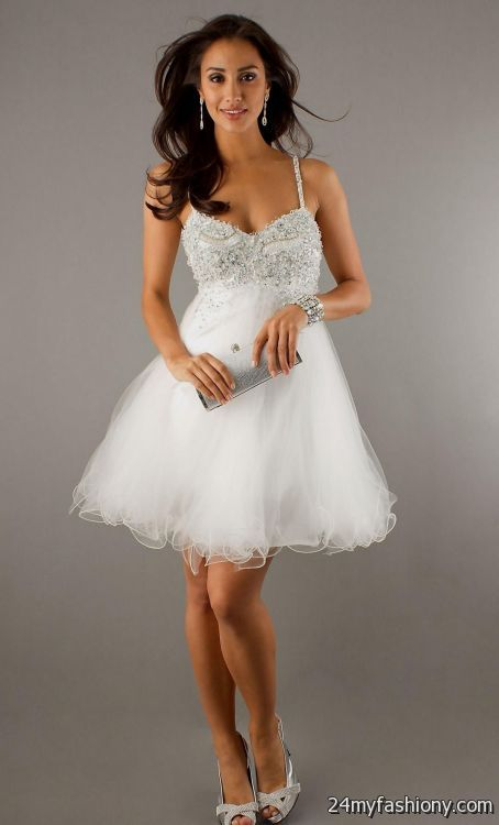 cute prom dresses short white 20162017 b2b fashion