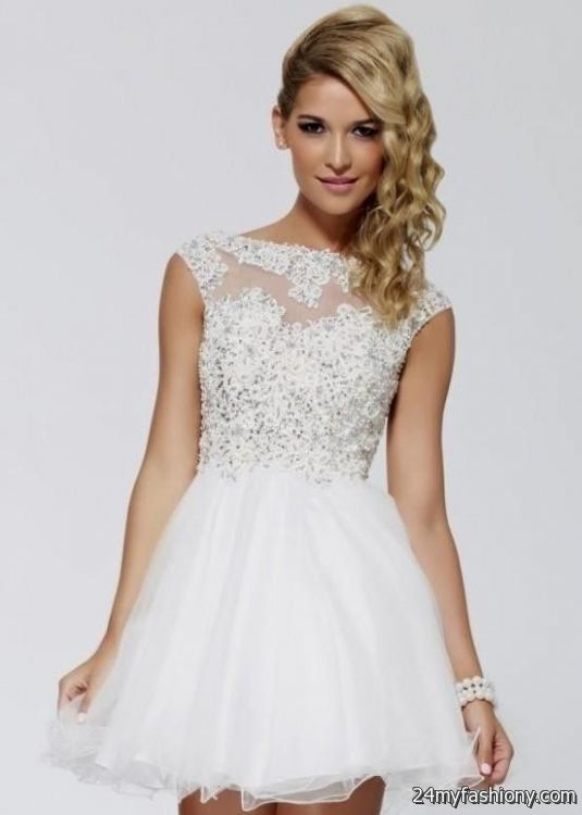 cute prom dresses short white 2016-2017 » B2B Fashion