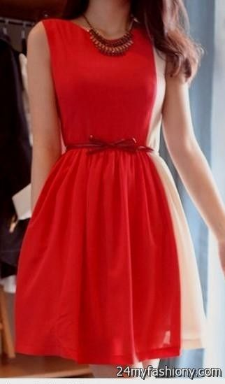 Red cocktail dress tumblr cute