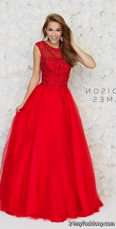 cute red prom dresses with sleeves 2016-2017 » B2B Fashion