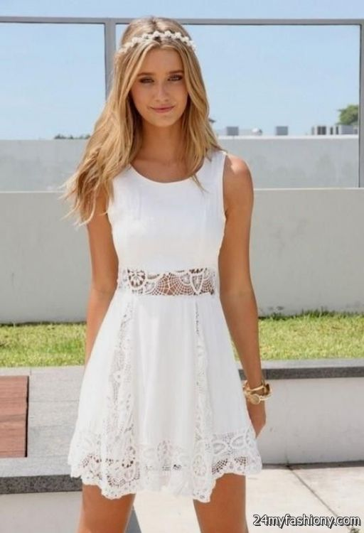 Cute White Dresses For Summer 2016 2017 B2b Fashion