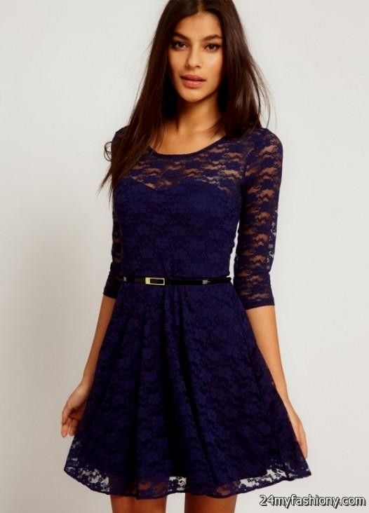 Dark Blue Dress 4