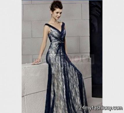 dark blue lace wedding dress 2016-2017   B2B Fashion Dark Blue Lace Bridesmaid Dresses