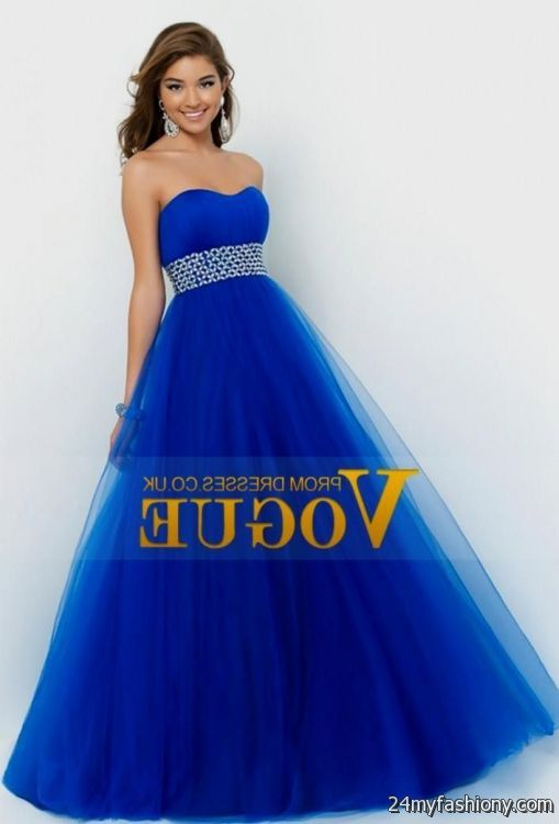 ae84b3920bc You can share these dark blue princess prom dresses on Facebook