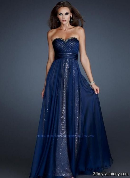 dark blue prom dress strapless 2016-2017 » B2B Fashion