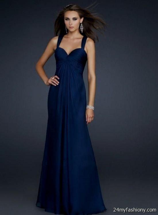 dark blue prom dresses with straps 2016-2017 | B2B Fashion
