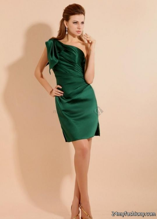 dark emerald green cocktail dress 2016-2017 | B2B Fashion