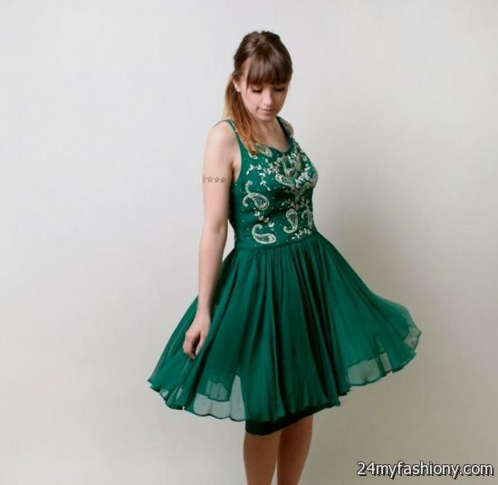 Dark Emerald Green Cocktail Dress 2016 2017 B2b Fashion