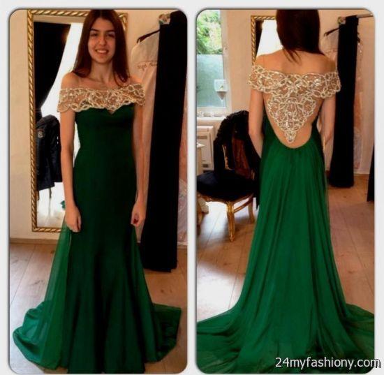 Dark Emerald Green Prom Dress 2016 2017 B2b Fashion