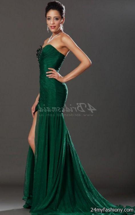 Dark Emerald Green Prom Dress Looks B2b Fashion
