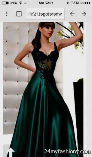 Dark Forest Green Prom Dress Looks B2b Fashion