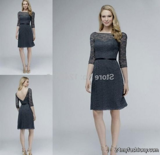 Dark Grey Lace Dress - Missy Dress