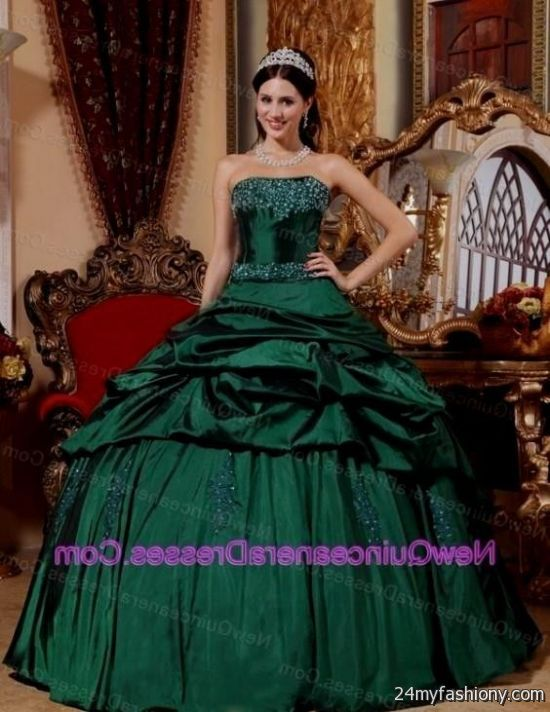 dark green quinceanera dresses 2016-2017 » B2B Fashion
