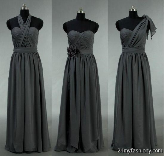 Dark grey lace bridesmaid dresses 2016 2017 b2b fashion for Dark grey wedding dresses