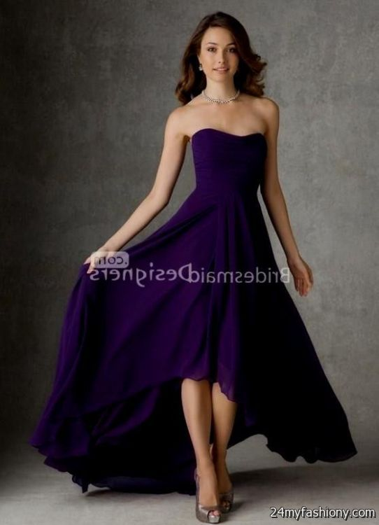dark purple and silver bridesmaid dresses flower girl