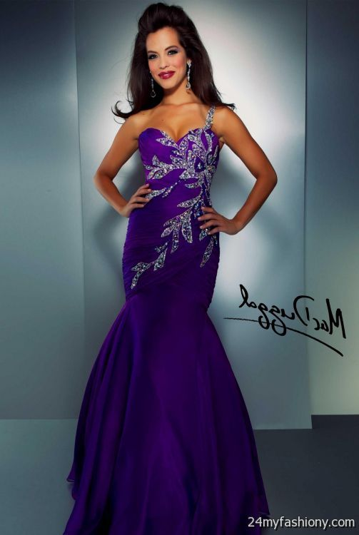 dark purple mermaid prom dress 20162017 b2b fashion
