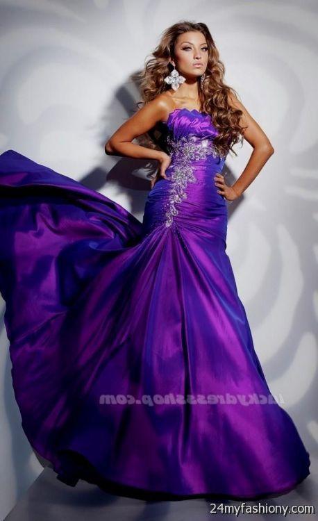 dark purple mermaid prom dress 20162017 b2b fashion