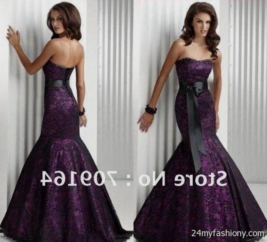 dark purple prom dress lace 20162017 b2b fashion