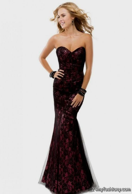 dark purple prom dress lace 2016-2017 » B2B Fashion