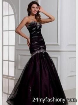 dark purple prom dresses mermaid 20162017 b2b fashion